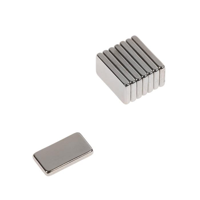 Неодимовый магнит REXANT, прямоугольник 15х8х2 мм, сцепление 1.1 кг, 8 шт