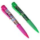 Ручка шариковая-прикол с резиновым держателем с рисунком МИКС