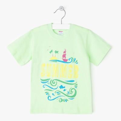 Футболка для девочки Swimming, цвет зелёный, рост 104-110 см