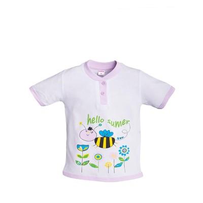 Футболка для девочки Cheerful bee, цвет фиолетовый, рост 98-104 см