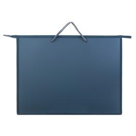 Папка А3, с ручками, пластиковая, молния сверху, 420 х 343 х 50 мм, «Оникс», ПР 3, цвет серый