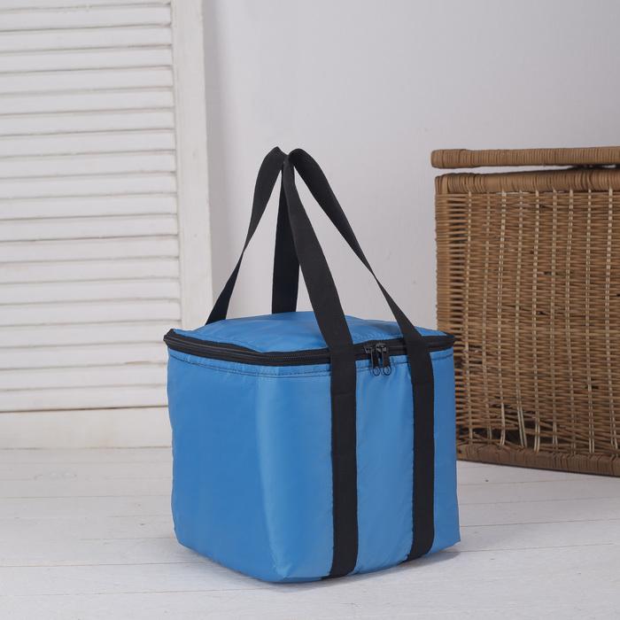 Сумка-термо, 7 л, отдел на молнии, цвет голубой - фото 290746497