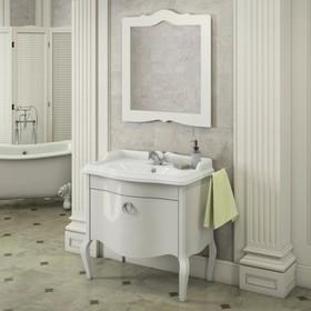 Зеркало COMFORTY «Лувр-90» белый