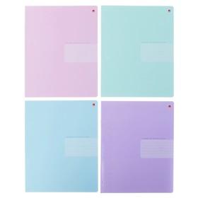 Тетрадь 18 листов клетка ZEFIR COLORS, обложка мелованный картон, выборочный лак, МИКС