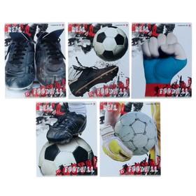 Тетрадь 48 листов в клетку «Настоящий футбол», обложка мелованный картон, гибридный лак, МИКС