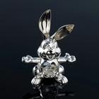 Сувенир «Кролик», 5,5×2.5×8 см, с кристаллами Сваровски