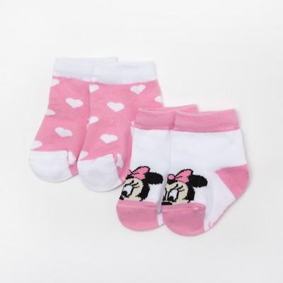 """Набор носков """"Minnie Mouse"""", белый/розовый, 6-8 см"""