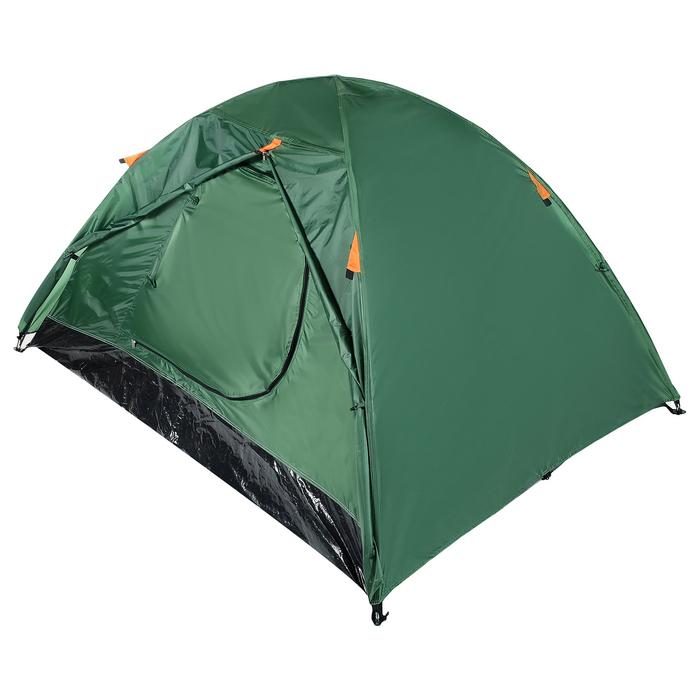 Палатка туристическая ROOT, 210 х 210 х 110 см, 2-х местная, цвет зелёный - фото 36267