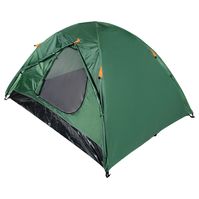 Палатка туристическая ROOT, 210 х 210 х 110 см, 2-х местная, цвет зелёный - фото 36268
