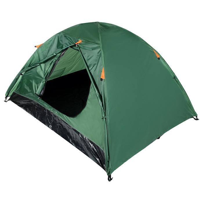 Палатка туристическая ROOT, 210 х 210 х 110 см, 2-х местная, цвет зелёный - фото 36269