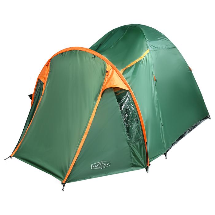 Палатка туристическая SKAUN, 290 х 240 х 185 см, 4-х местная, цвет зелёный - фото 36271