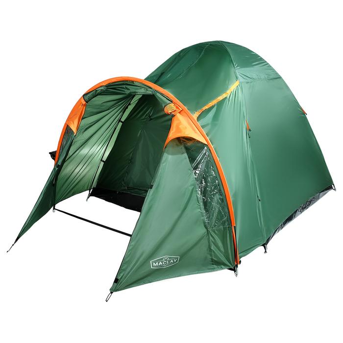 Палатка туристическая SKAUN, 290 х 240 х 185 см, 4-х местная, цвет зелёный - фото 36272