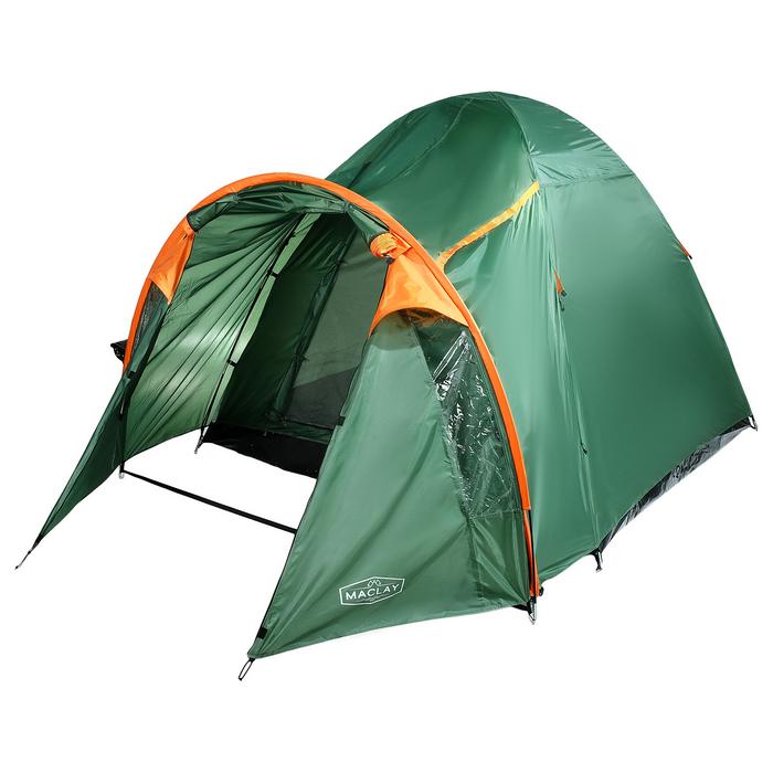Палатка туристическая SKAUN, 290 х 240 х 185 см, 4-х местная, цвет зелёный - фото 36273