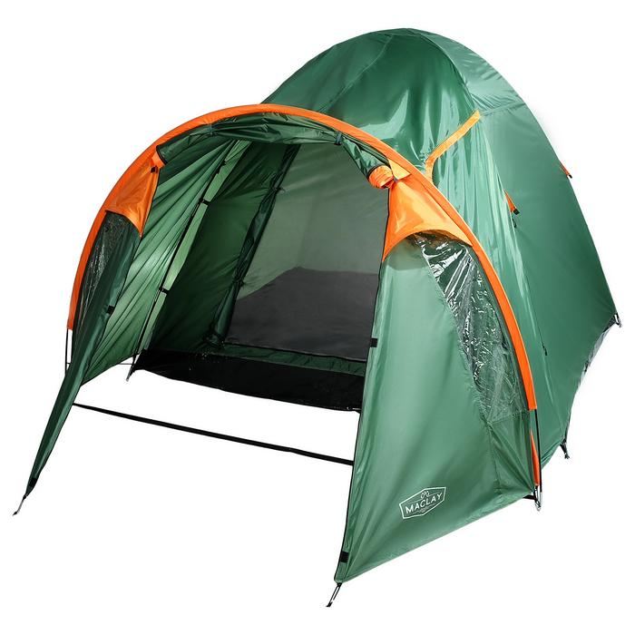 Палатка туристическая SKAUN, 290 х 240 х 185 см, 4-х местная, цвет зелёный - фото 36274