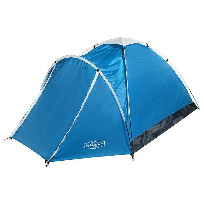 Палатка туристическая VERAG, 290 х 210 х 130 см, 3-х местная, цвет синий