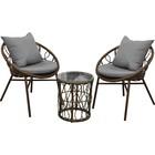 """Набор мебели """"Майорка"""",в наборе:стол и 2 кресла, искусственный роттанг"""