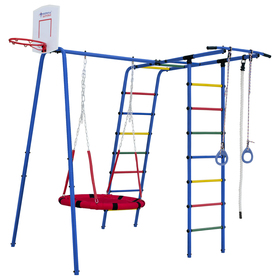 Детский спортивный комплекс уличный Street 1, цвет синий/радуга