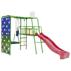 Детский спортивный комплекс уличный Street 3, цвет салатовый/радуга