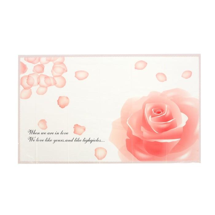 """Наклейка для кафельной плитки """"Розовая роза"""""""