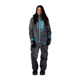 Комбинезон FXR Recruit без утеплителя, размер S-M, серый, голубой