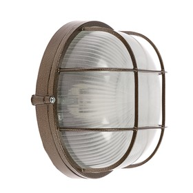 Светильник НБП 03-60-002 УХЛ1, 60 Вт, Е27, 220 В, IP54, до +130°, с решеткой, цвет бронза Ош