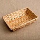 Хлебница «Плетёнка», 19×13×4 см, бамбук