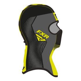 Балаклава FXR Shredder Tech, размер S, чёрный, серый, жёлтый