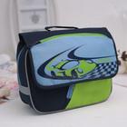 Рюкзачок детский Grizzly RK-997-1 32*24*11 мал, тёмно-синий/голубой/салатовый