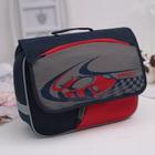 Рюкзачок детский Grizzly RK-997-1 32*24*11 мал, тёмно-синий/серый/красный