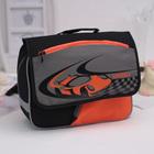 Рюкзачок детский Grizzly RK-997-1 32*24*11 мал, чёрный/серый/оранжевый