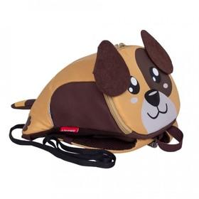 Рюкзак детский, отдел на молнии, цвет бежевый/коричневый
