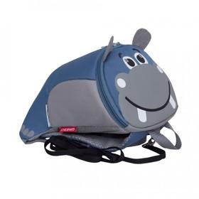 Рюкзак детский, отдел на молнии, цвет серый/синий