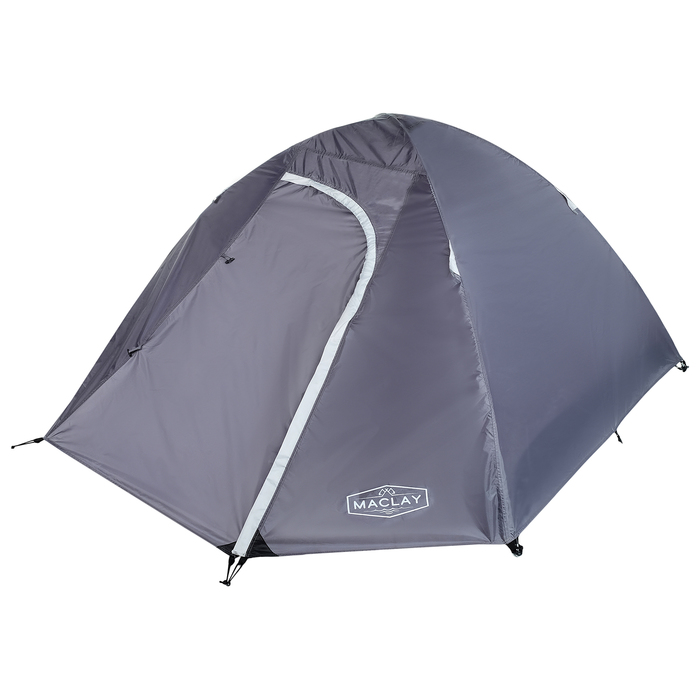 Палатка туристическая MALI, 210 х 210 х 115 см, 2-х местная, цвет серый