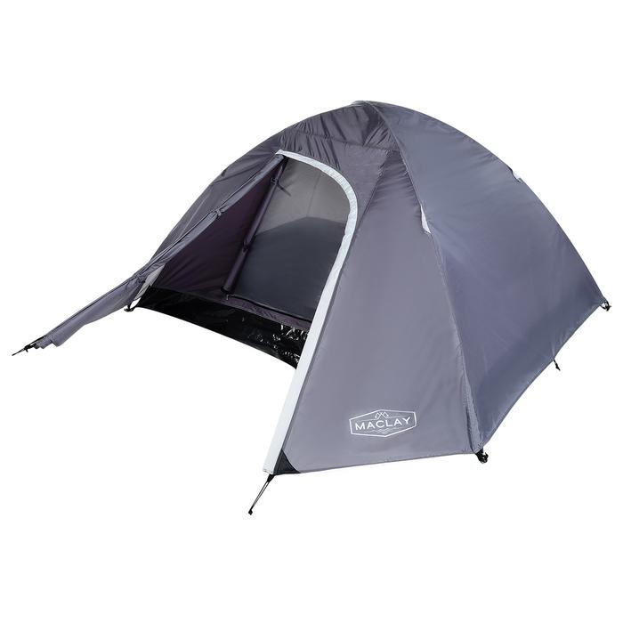 Палатка туристическая MALI, 210 х 210 х 115 см, 2-х местная, цвет серый - фото 36284
