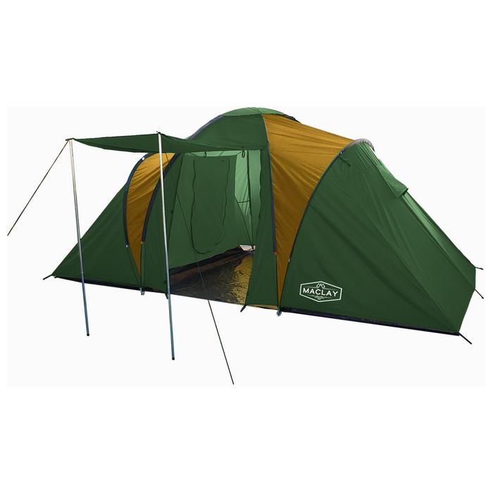Палатка туристическая MIRAGE, 440 х 215 х 180 см, 4-х местная, цвет зелёный