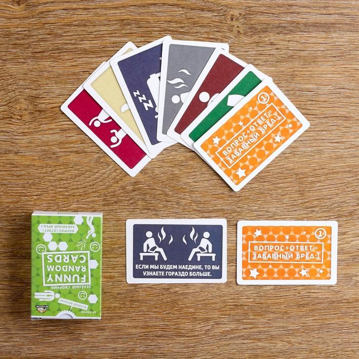"""Игра для вечеринок """"Funny Random Cards"""", зеленый сборник"""
