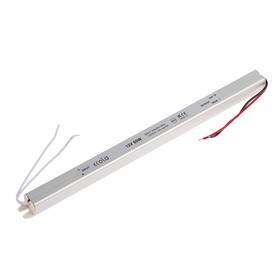 Блок питания для светодиодной ленты Ecola LED strip Power Supply, 60Вт, 12В, длинный, тонкий Ош