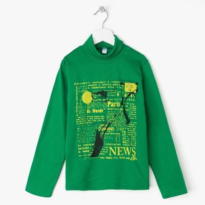 Водолазка для мальчика Green Panther, цвет зелёный, рост 128-134 см