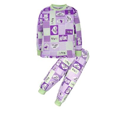 Пижама Love in a cage, цвет фиолетовый , рост 86-92 см