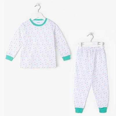 Пижама Star turquoise, цвет белый, рост 86-92 см
