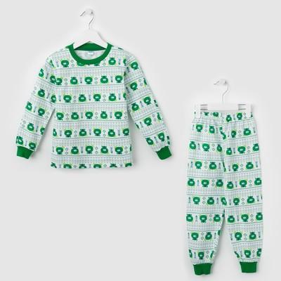 Пижама Green bear, цвет зелёный, рост 86-92 см