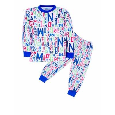 Пижама Letters, цвет синий, рост 86-92 см