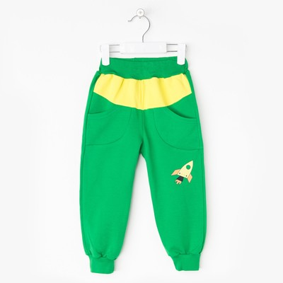 Брюки для мальчика Rocket green, цвет зелёный, рост 98-104 см