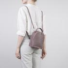 Рюкзак-сумка мол V133, 16*8,5*20см, отд на молнии, сиреневый