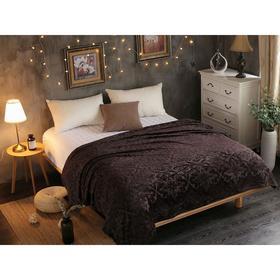 Плед Moreska, размер 150 × 200 см, цвет серо - коричневый, велсофт