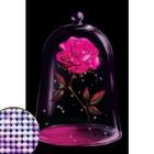 """Алмазная вышивка с частичным заполнением """"Сказочный цветок"""" 20*30 см на холсте"""