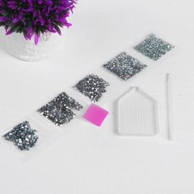 Алмазная вышивка с частичным заполнением «Снежный барс» 20х30 см на холсте - фото 7309277