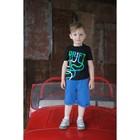 "Комплект: футболка и шорты KAFTAN ""Дрифт"" р.28 (86-92), синий, чёрный - фото 76128556"