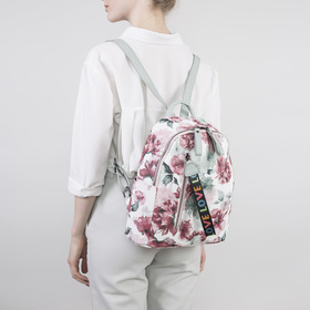 Рюкзак молодёжный, отдел на молнии, наружный карман, цвет белый