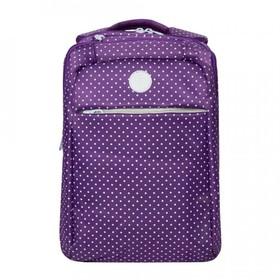 Рюкзак молодёжный, 2 отдела на молниях, наружный карман, цвет фиолетовый